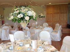 Whites and champagne martini vase arrangement