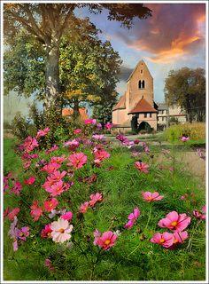 Chapel road by Jean-Michel Priaux, via Flickr ~ Saint Ludan-Alsace-France