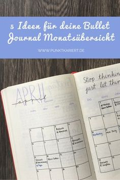5 Ideen für deine Bullet Journal Monatsübersicht