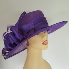 7b02efe3f00 Ladies Wedding Races Hat Available to Hire £35 Vibrant Purple by Victoria  Ann