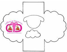 moldes lembrancinhas EVA | Lembrancinha para Páscoa - cestinha de ovelha