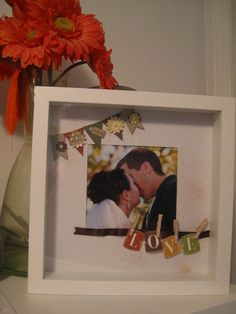 Stampin' Up! SU by Morgan, Stamp Cravings. Framed layout gift. Would make a lovely wedding or engagement gift!