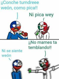 Read from the story countryhumans ; comics & imagenes by yoongafa (˗ˋ . Funny Spanish Memes, Funny Relatable Memes, Hetalia, Human Flag, Humor Mexicano, Disney Memes, Country Art, Cool Countries, Cute Gay