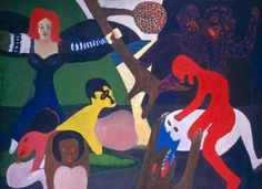 Tree by Bob Thompson (African American Artists: Collection Highlights) African American Artist, American Artists, Famous Black Artists, Tree Images, National Gallery Of Art, Art Object, Figure Painting, Contemporary Paintings, Art Museum