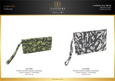#Pochette in #pelle a fantasia #camouflage / #Leather #pochettes - #Camouflage by ITALUXURY | #Luxury Leather Goods & Accessories - Made in Italy. Website: www.italuxury.com