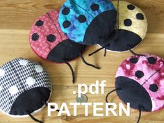 BooBoo Bug Ladybug hot cold Therapy pack PATTERN by Idealeon