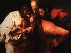 Caravaggio.L' Incredulità di Tommaso .Copia del falsario di Caravaggio.