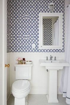 Prints At Play - 15 Tiny Bathrooms That Are So Impressive - Photos