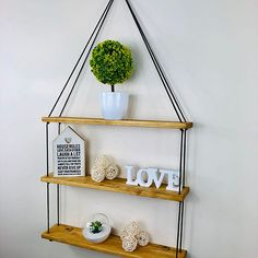 Home of rustic, modern, and unique shelving. All products are made to order, in England. Unique Shelves, Rustic Shelves, Hanging Shelves, Light Oak, Shelving, Modern, Shelf, How To Make, Handmade