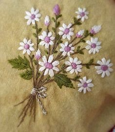Flower bouquet embroidery #flowerembroidery