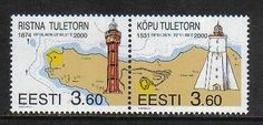 Estonia 2000 Lighthouses--Attractive Architecture/Map Topical (389a) MNH