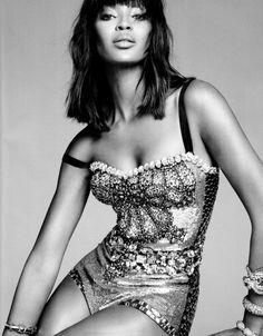 thecysight:  Naomi Campbell by Karim Sadli for Harper's Bazaar (March 2012) Editorial: Naomi Knows It All Bodysuit: Dolce & Gabbana (RTW Spring 2012) Stunning! Dolce & Gabbana (RTW Spring 2012)