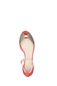 Sandales cuir corail détail paillettes Juliette Emma Go sur MonShowroom.com