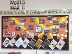 World War 2 Display (cartwheels444) Tags: classroom display aura worldwar2 aurasma
