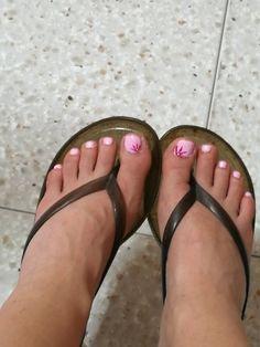 Primo Gel uv ai piedi, rosa con fiore..
