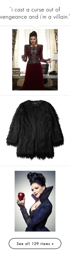 """i cast a curse out of vengeance and i'm a villain."" by jolieenrose ❤ liked on Polyvore featuring once upon a time, outerwear, coats, jackets, fur, fake fur coat, faux fur coat, long coat, long sleeve coat and imitation fur coats"