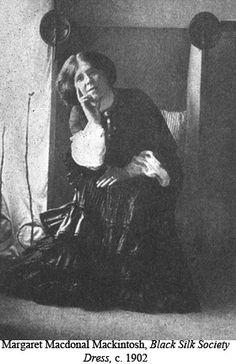 Margaret Macdonald Mackintosh shown in a dress of her own design.