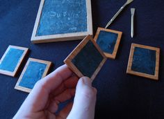 Look at those sweet babies!!!    St. Thomas guild - medieval woodworking, furniture and other crafts: Wax tablets