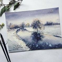 Watercolorist: @aily_shamanka  #waterblog #акварель #aquarelle #painting #drawing #art #artist #artwork #painting #illustration #watercolor #aquarela