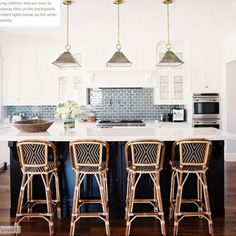 Copy Cat Chic: Serena And Lily Riviera Counter Stool, Love Backsplash Color  And Bar