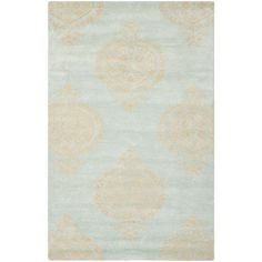 Found it at Joss & Main - Halle Blue Floral Wool Hand-Tufted Area Rug