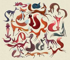 Fox Pattern on Behance