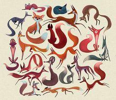 Fox Pattern on Behance