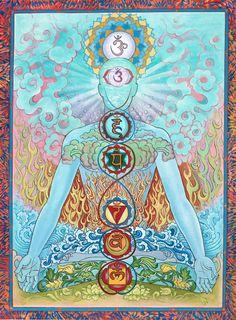 Chakraman Sky Blue Mandalas.com--The Art of Paul Heussenstamm