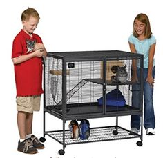 MidWest Deluxe Critter Nation Single Unit Small Animal Cage (Model Includes 1 Leak-Proof Pans, 1 Shelf, 1 Ramps w/ Ramp Cover Pet Rat Cages, Ferret Cage, Pet Cage, Rabbit Cages, House Rabbit, Small Animal Cage, Animal Habitats, Pet Memorials, Animals And Pets
