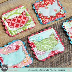 These fabulous fabric coasters are a puuurfect project for the feline fanatic in your life. See how Sizzix Design Team member Amanda made them in her tutorial.