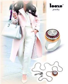 Looxe Lookbook - A modern and classical style with an irreverent touch. What is your opinion about this set? // Looxe Lookbook - Um estilo moderno e clássico com um toque irreverente. Qual é a vossa opinião em relação a este conjunto?  #looxe #looxejewelry #jewelry #looxelookbook #look #modernstyle #irreverenttouch #style #fashion #necklace #ring ANL4706 / COL4706 Foto by Pinterest