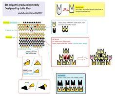 Jewellia handicrafts: 3D origami diagram~ Graduation bears