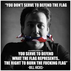 the flag is merely a symbol. It is Freedom that true patriots defend.