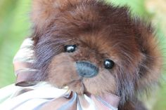 """""""Coco""""  7.5"""" recycled mink fur teddy bear. Made from vintage jacket. Giving life back. Never taking it.  """"SOLD"""""""