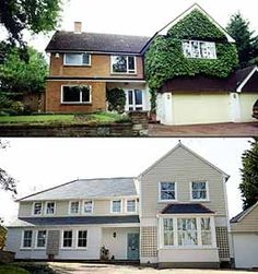 1000 images about house transformations inc before and for 70s house exterior makeover