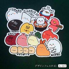 Character sticker !! デザフェス41で販売するステッカーです! #デザフェス #デザフェス出展 #sticker #character #illustration #art #artwork #シール #ステッカー #絵 #イラスト
