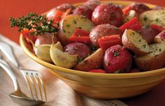 Red Potatoes in Butter & Garlic (made with Ziploc Zip 'n Steam bags)