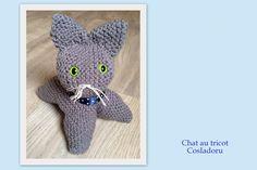 Chat en laine au tricot