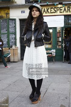 105118-010. Singer/actress SoKo (Stephanie <a gi-track='captionPersonalityLinkClicked' href=/galleries/search?phrase=Soko&family=editorial&specificpeople=2044389 ng-click='$event.stopPropagation()'>Soko</a>linski) is photographed for Madame Figaro on October 14, 2012 in Paris, France. Jacket by Vivienne Westowood Anglomania, dress by Chloe, personal hat.