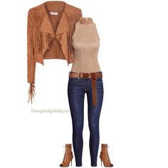 29 Killer Open Toe Booties Outfit Ideas to decide How and What to Wear – Damn You Look Good Daily how to wear open toe booties in the fall fringe suede jacket nude turtleneck sleeve shirt skinny blue jeans and a gold choker Wedge Booties Outfit, Wedges Outfit, Open Toe Booties, Sexy Outfits, Casual Outfits, Fashion Outfits, Winter Outfits, Womens Workout Outfits, Cool Street Fashion