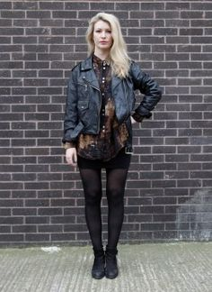 Vintage 1980s 'Ladyrider' Leather  biker jacket