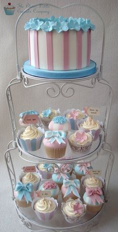 Pretty Pastel Wedding Cupcake Tower #pastel wedding #wedding planning