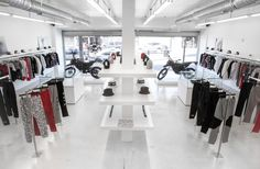 Downtown Los Angeles' premier design-build firm, A-INDUSTRIAL, has provided a clean slate for urban men's retailer DOPE. The space was strategically designed to modify the thought process of how the team uses the space and permit a better workflow for the sales floor. This men's apparel company has a retail design that is minimal modern.