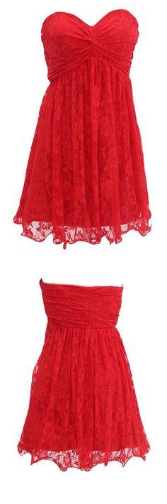 bridesmaid dress,red bridesmaid dress,short bridesmaid dress,sleeveless bridesmaid dress,a-line bridesmaid dress,lace bridesmaid dress