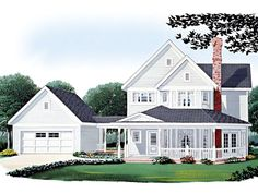 054H-0078: Two-Story Country House Plan