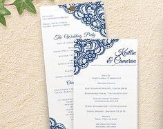 DiY Rustic Wedding Program Template DOWNLOAD by KarmaKWeddings