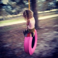 Cause every lil girl needs a pink tire swing!