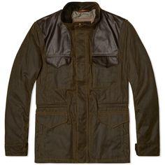 Barbour x Land Rover Traveller Wax Jacket (Olive)