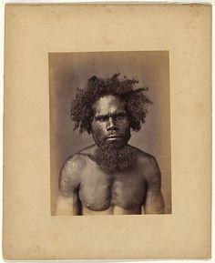 J. W. LINDT, (Bust portrait of an Aboriginal man)