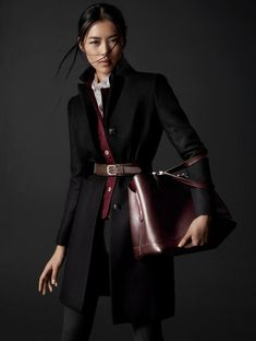 { Liu Wen Poses for Massimo Dutti's Equestrian Fall 2014 Campaign }